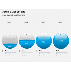 Liquid glass sphere PPT slide 1