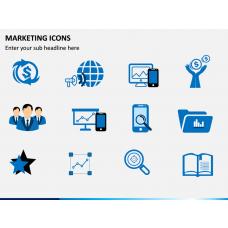 Marketing icons PPT slide 1