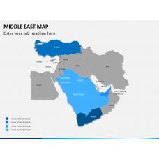Middle east map PPT slide 2