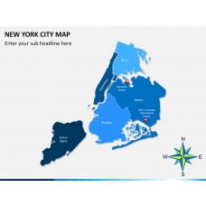 New York City map PPT slide 2