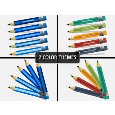 Pencil diagram PPT cover slide