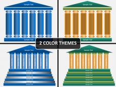 Pillar shapes PPT cover slide