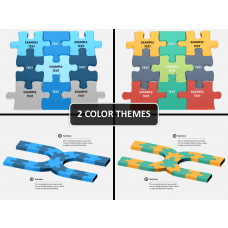 Puzzle pieces PPT cover slide