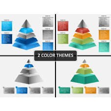 Pyramid shape PPT cover slide