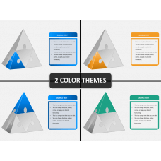 Pyramid puzzle PPT cover slide