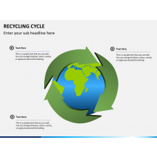 Recycling cycle PPT slide 1