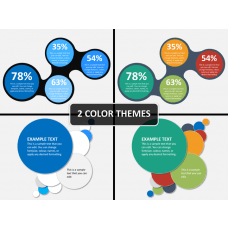 Round text boxes PPT cover slide