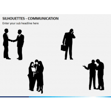 Silhouettes communication PPT slide 1
