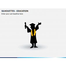 Silhouettes education PPT slide 1