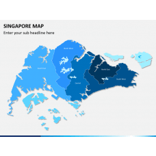 Singapore map PPT slide 1