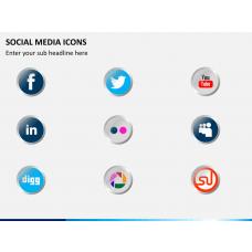 Social media icons PPT slide 1