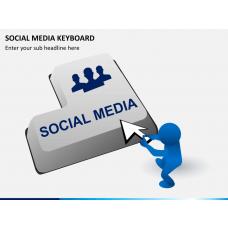 Social media keyboard PPT slide 1