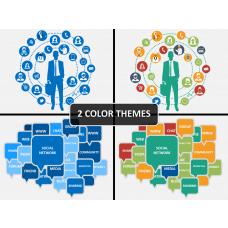 Social network PPT cover slide