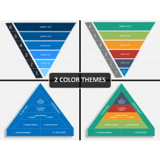 Strategy pyramid PPT cover slide