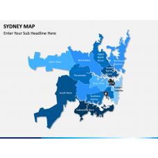 Sydney map PPT slide 2