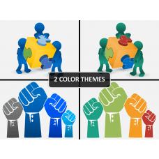 Teamwork PPT cover slide