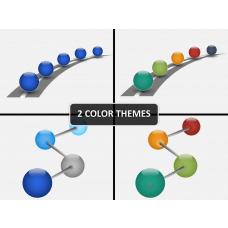 Timeline 3D sphere PPT cover slide