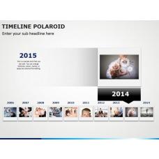 Timeline Polaroid PPT Slide 1