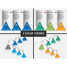 Triangle shape PPT cover slide