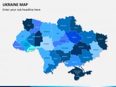 Ukraine map PPT slide 1