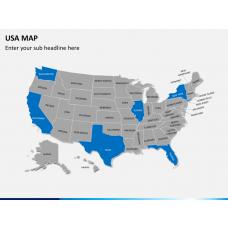 USA map PPT slide 2