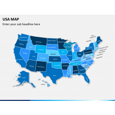 USA map PPT slide 2a