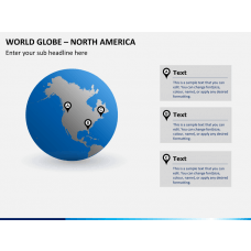World globe with countries PPT slide 1