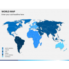 World map PPT slide 1