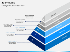 2D pyramid PPT slide 11