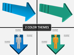 3D arrows PPT cover slide