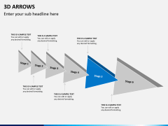 3D arrows PPT slide 1