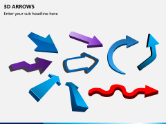 3D arrows PPT slide 10