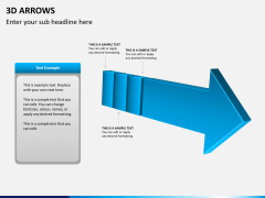 3D arrows PPT slide 2
