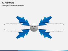 3D arrows PPT slide 7
