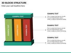 3D blocks structure PPT slide 11