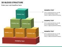 3D blocks structure PPT slide 12