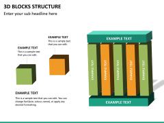 3D blocks structure PPT slide 16