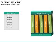 3D blocks structure PPT slide 17