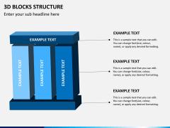 3D blocks structure PPT slide 2