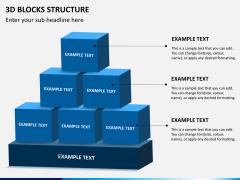 3D blocks structure PPT slide 3
