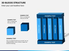 3D blocks structure PPT slide 7