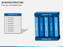 3D blocks structure PPT slide 8