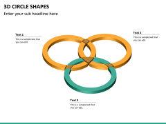 3D circle shapes PPT slide 18