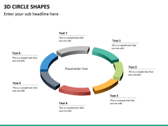 3D circle shapes PPT slide 27
