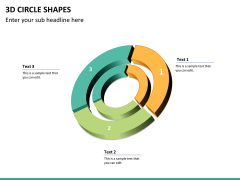 3D circle shapes PPT slide 29