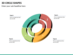 3D circle shapes PPT slide 30