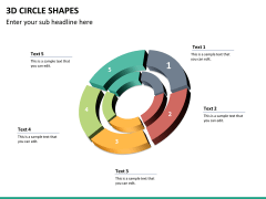 3D circle shapes PPT slide 31