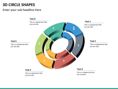 3D circle shapes PPT slide 32