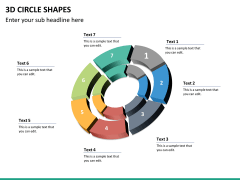 3D circle shapes PPT slide 33
