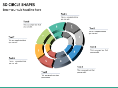 3D circle shapes PPT slide 34